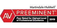 Martindale-Hubble Preeminent Logo 2019. Fergeson Skipper is proud to be peer rated for the highest level of professional excellence by Martindale-Hubble